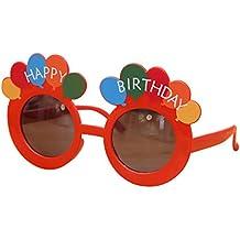 Tinksky Joyeux anniversaire ballons rond lentille lunettes de soleil Party  Fun garçons filles anniversaire cadeaux d 5a2595e87119