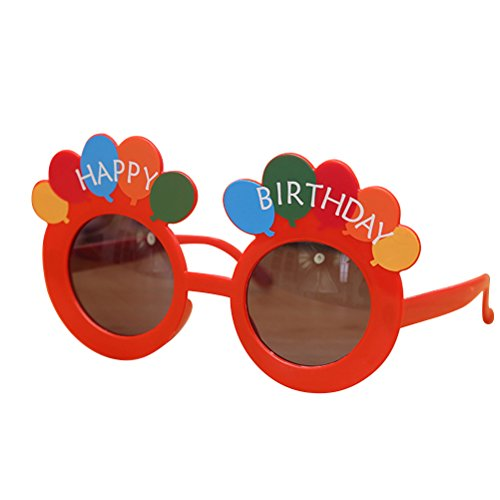 OULII Happy Birthday Sonnenbrillen Nette Ballons Brille Kostüm Gläser Requisiten Lustige Neuheit für Geburtstagsfeier Gefälligkeiten