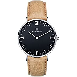 Marc Brüg Men's Minimalist Watch Chamonix 41 Hygge Black