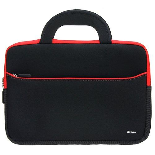 11,6 Zoll Laptophülle, Evecase Universal Neopren Tasche Notebooktasche Hülle mit Griff für MacBook Air, Laptop, Chromebook, Ultrabook - Schwarz