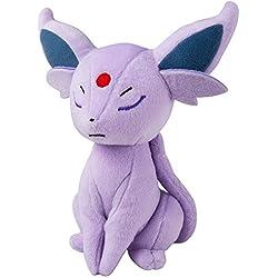 TOMY Peluche de Eevee Espeon Pokémon Espeon Aprox. 20cm Peluche para Jugar y coleccionar. A Partir de 3años | Peluche Ideal como Regalo para niños