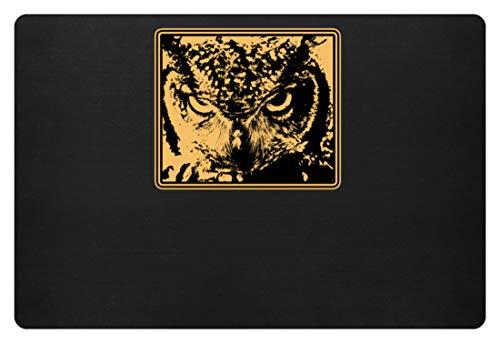 Hochwertige Fußmatte - Grimmige Eule - Grumpy Owl Motiv Vogel Party Lustig - Schlichtes Und Witziges Design