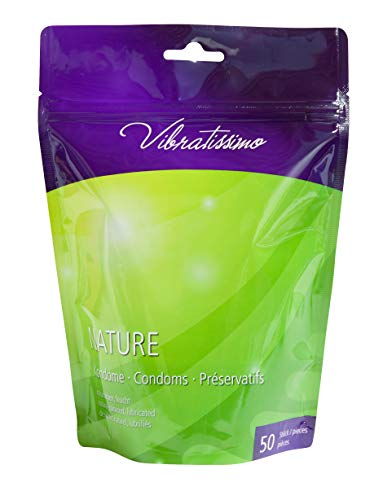 "VIBRATISSIMO\""Nature\"" 50er Pack Premium Kondome, gefühlsecht und extra feucht"