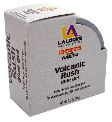 La Looks Mens Glue Gel Volcanic Rush 3.5oz Jar by LA Looks