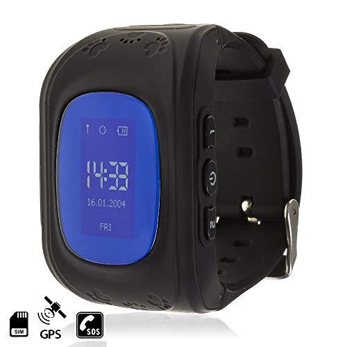 TEKKIWEAR. DMW007. Smartwatch GPS Q50 Especial para Niños, con Función De Rastreo, Llamadas Sos Y Recepción De Llamada. Compatible con iPhone Y Android. Especial para Niños, Función De Rastreo. Negro