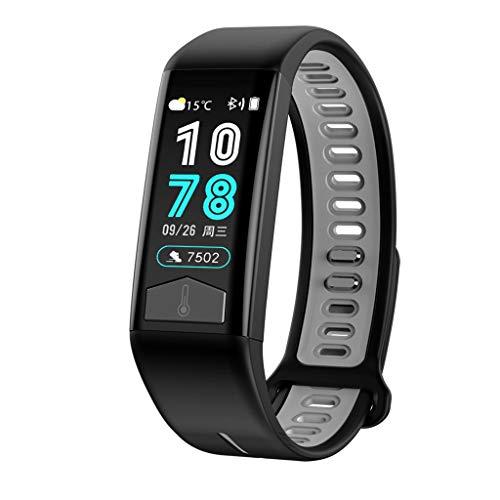 T02 Touch Farbdisplay Multifunktions Chronograph Schritt Herzfrequenz Tracker Hd Anrufinformationen Aufforderung IP68 Wasserdichtes Smart Sport Armband/Kompatibel Mit iOS Android Gerät