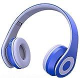drahtlose Bluetooth - Headset Stereo Headset klappbar, drahtlosen und drahtgebundenen Headset mit weichen Erinnerung Protein ohrenschützer, mikrofon, geeignet für Mobile pc und Laptop,blau