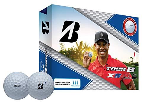 Bridgestone Golf Unisex- Erwachsene Tiger Woods TourB XS Golfball, Weiß, One Size (B330 Golfbälle Bridgestone)