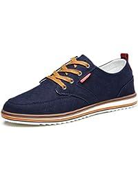 Zapatos Casuales de Hombre Zapatos de Alpargatas Transpirables con Cordones Zapatos de Lona básicos Zapatos Planos