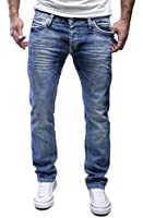 MERISH Herren Jeans Straight Fit Destroyed Blue Jeans 9653 1154