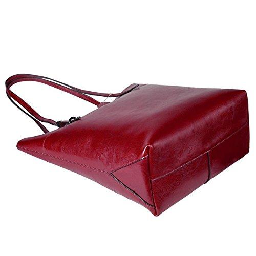 jieway di alta qualità da donna nuovo PUleather Borsetta Borsa a tracolla borse shopping vendita calda Red