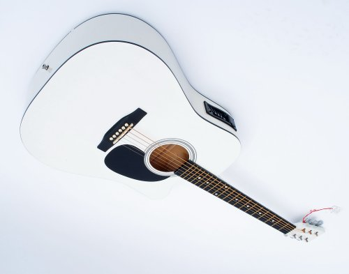 Cherrystone 4260180887051 Cutaway 4 Band EQ Westerngitarre mit Tonabnehmer weiß