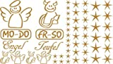Autoaufkleber Sticker Aufkleber Set für Auto Schriftzug Engel Mo-Do Fr-So Teufe (930 gold)