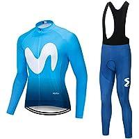 Fansport Conjunto De Jersey De Ciclismo Camisa Ciclista Transpirable De Manga Larga Unisex, Conjunto De Ropa De Ciclismo