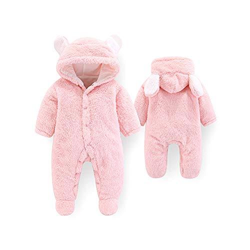 Baby Strampelanzug mit Füssen, Mütze für Jungen und Mädchen, mit Kapuze, für 0-12 Monate, Halloween, Cosplay-Kostüm 9-12 Monate rose