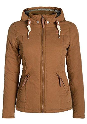 DESIRES Lewy Damen Winterjacke Kurzjacke mit Kapuze aus hochwertiger Baumwollmischung, Größe:M, Farbe:Cinnamon (5056)