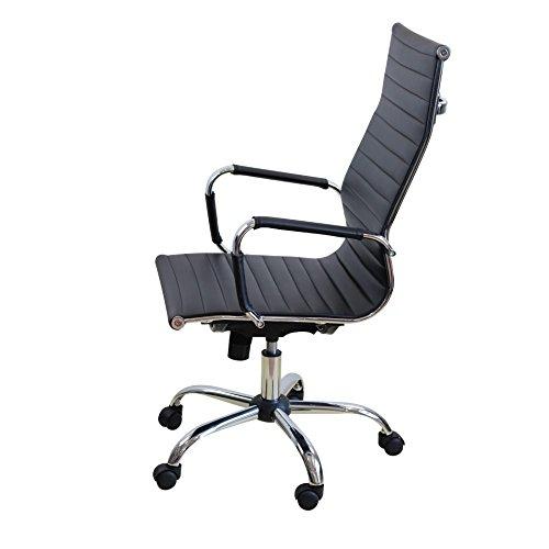 & Sedia da ufficio girevole poltrona direzionale Sedia scrivania da Computer da tavolo nero ergonomica, Poliuretano, nero confronta il prezzo