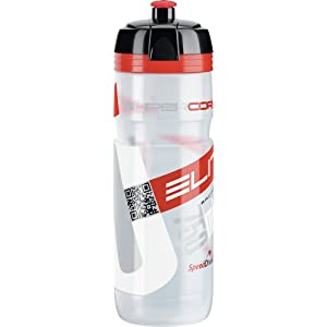 Elite 0091754 - drinking bottles (Bicycle, Sports, Red, Sport lid, Polypropylene (PP), Food-grade polyethylene bottle body, Thermoplastic rubber and polypropylene cap, Easy cleaning, Biod)