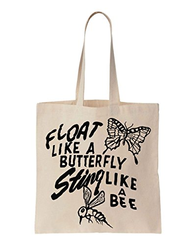 float-like-a-butterfly-sting-like-a-bee-quote-art-cotton-canvas-tote-bag