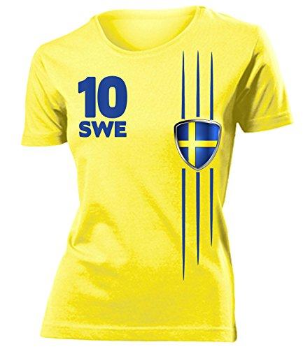 FUSSBALL - FANARTIKEL- SCHWEDEN FANSHIRT 3297(F-G) Gr. M (Schweden-fußball-t-shirt)