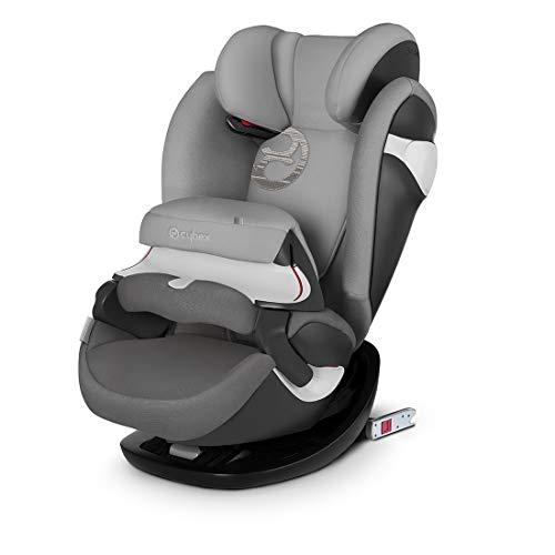 Cybex Group 1/2/3 Pallas M-Fix siège auto, siège auto 2 en 1, pour voitures avec et sans ISOFIX, 9-36 kg, d'environ 9 mois à 12 ans Manhattan Grey