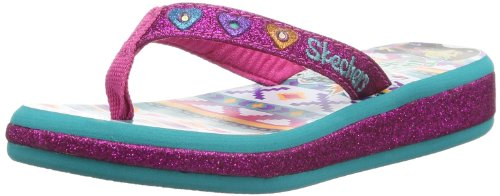 Skechers Sunshines Summer Glow, Tongs fille Rose (Hpaq)