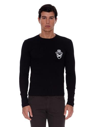 gianfranco-ferre-camiseta-manga-larga-logo-negro-xl