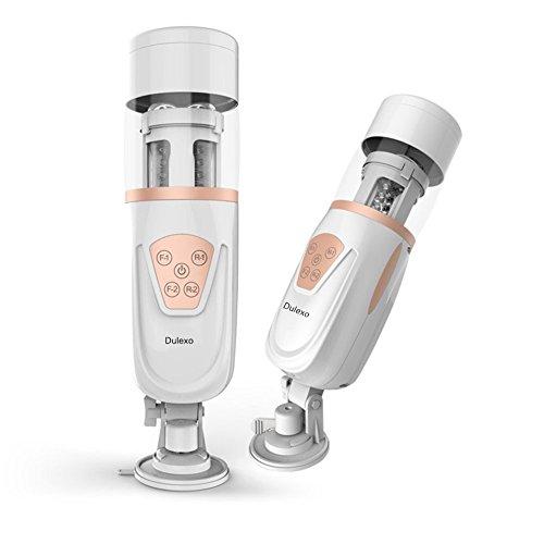 Dulexo Teleskopischer Masturbator mit Vibrations und Stoßfunktion Hin und Her Funktion Realistische Vagina & Ass Mann Masturbatoren Automatischer Sexspielzeug für Männer