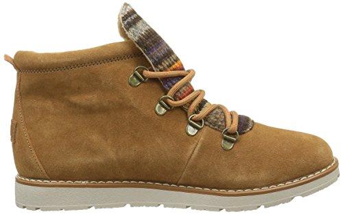 Skechers Bobs Alpine S'mores, Chaussures Lacées Femme Beige (Csnt Marron)