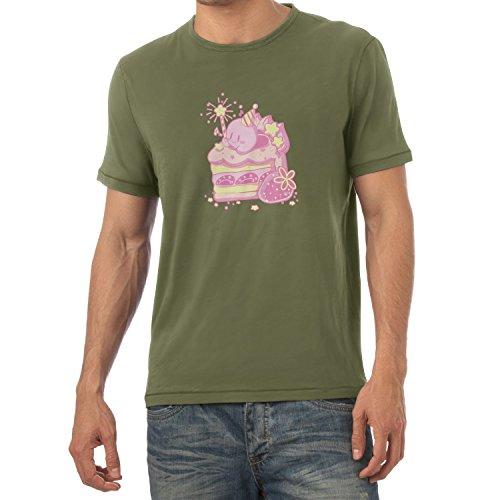 NERDO - Cake Time - Herren T-Shirt Oliv