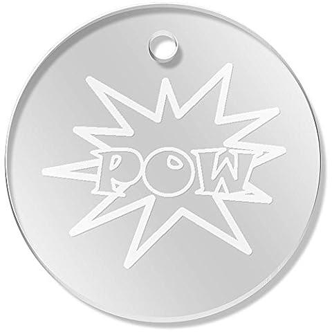11 x 34mm 'Pow Motif' Clear Pendants / Charms (PN00000787)