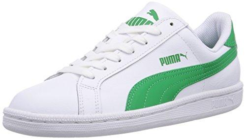 Puma Unisexo-adulto Couro Quebra Baixa Parte Superior Branca (verde Branco-fern 07)