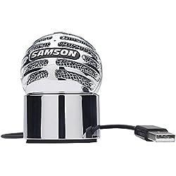 Samson METEORITE - Micrófono de condensador USB - Micrófono Meteorito USB de condensador