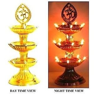 Rebuy 3 Layer Electric Diya Deepak Light Lamp LED Light for Home Temple decor  available at amazon for Rs.400