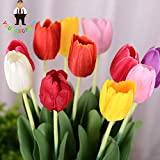 Yellow : 100Pcs Tulip Seeds,Aromatic Flower Seeds Potted Plants Most Beautiful Colorful Tulip Plants Perennial Garden