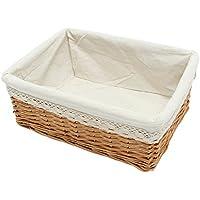 ounona sauce cesta de almacenamiento multiusos cesta de Cesta rectangular con forro extraíble lavable large As Shown