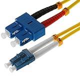 Helos 3m OS2 LC/SC 3m LC SC Jaune câble de fibre optique - Câbles de fibre optique (3 m, OS2, LC, SC, Jaune)