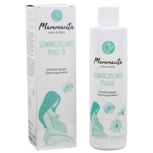 Mammacita natürliches Schwangerschaftsöl I Körperöl gegen Dehnungsstreifen mit Vitamin A & E I feuchtigkeitsspendendes naturkosmetik Pflege Öl I Narbenöl I 250 ml
