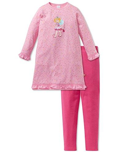 Schiesser Mädchen Zweiteiliger Schlafanzug Prinzessin Lillifee Md Anzug lang, Rot (Rosa 503), 116