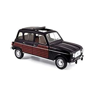 Norev-Renault-4L-Parisienne-1964-Coche en Miniatura de colección, 185242, Negro/Rojo