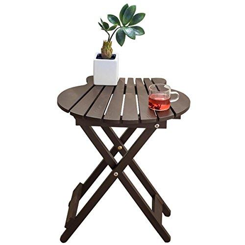 Massivholz Klapptisch Einfacher Balkon Outdoor Tisch Tragbarer Schreibtisch Kleiner Tisch Tisch Couchtisch - Rot, Weiß, Blau, Braun , brown (Wicker Couchtisch)