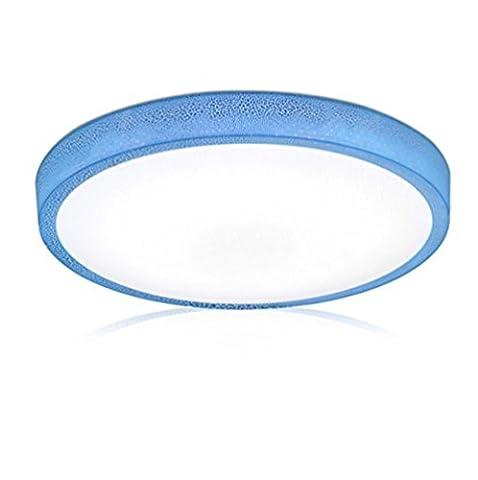 Lampe de plafond moderne minimaliste de mode de crack de la frontière acrylique LED plafond lampe chambre étude Restaurant cuisine salle de bains balcon couloir lumière ( Color : Blue Three Color Light , Taille : 26CM 12W )