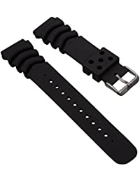 Bracelet de montre style plongée, remplacement pour Z22, Noir, 22mm