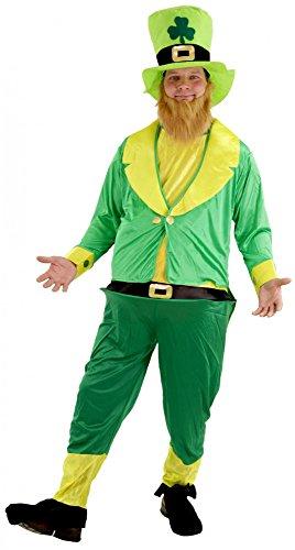 Foxxeo 40132 | Irischer Kobold Kostüm Koboldkostüm für Herren Gr. M - XXXL, Größe:M