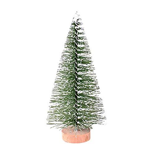 Mitlfuny Weihnachten Home TüR Dekoration 2019,Weihnachtsbaum Mini Pine Tree mit hölzernen Basis DIY Home Table Top Decor