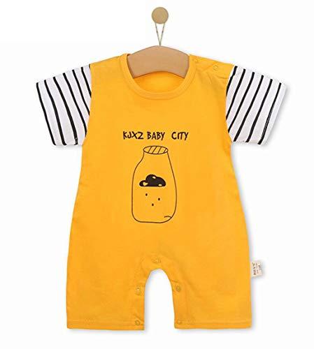 Unisex-Baby Infant Wide Short Sleeve Animal Cartoon Bodysuit Bodys BB@TZZ08HW-1318