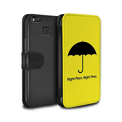 Stuff4 - Funda de Piel sintética para Tablet Umbrella/Quote Huawei P9 Lite