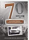 A4 XXL Geburtstagskarte Herren zum 70. Geburtstag: Sportwagen