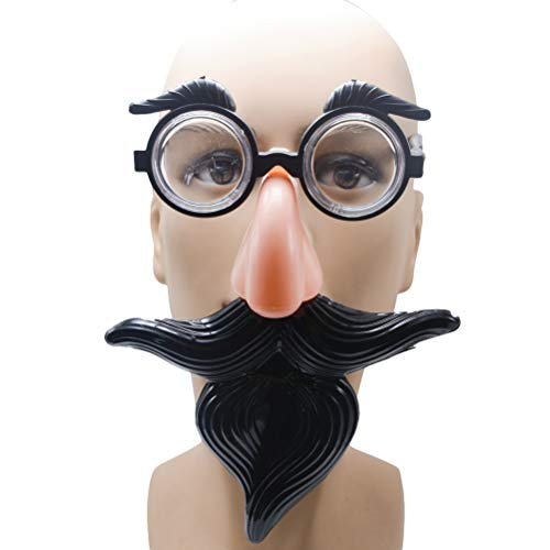 Amosfun 2pcs Fake Moustache Glasses Disguise Brille mit lustiger - Groucho Kostüm