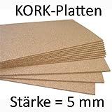 Pinnwand Korkplatte 50 x 100 cm - 5 mm stark